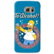 COVER HOMER SIMPSON APPLE per SAMSUNG GALAXY SERIE S, S MINI, A, J, NOTE, ACE, GRAND NEO, PRIME, CORE, MEGA