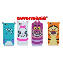 COVER SILICONE MORBIDO PER IPHONE MONSTER, MINù, STREGATTO, TIGRO