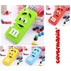 COVER SILICONE MORBIDO PER IPHONE M&M'S
