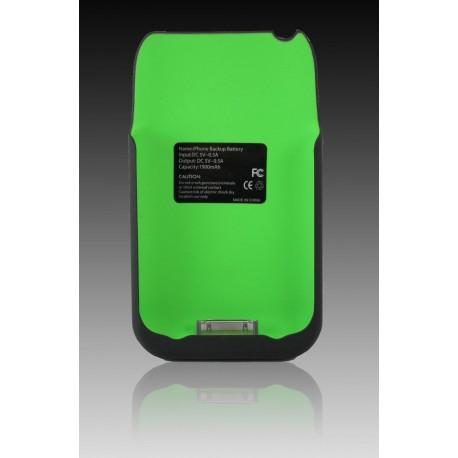 BATTERY CASE cover con batteria supplementare 1900 mAh colore bianco PER IPHONE 4/4S