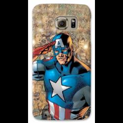 COVER CAPITAN AMERICA VINTAGE per ASUS HTC HUAWEI LG SONY BLACKBERRY NOKIA