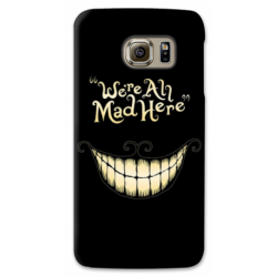 """COVER STREGATTO """"WE'RE ALL MAD HERE"""" PER ASUS HTC HUAWEI LG SONY BLACKBERRY NOKIA"""