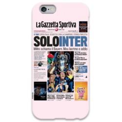 COVER SOLO INTER Gazzetta per iPhone 3g/3gs 4/4s 5/5s/c 6/6s Plus iPod Touch 4/5/6 iPod nano 7
