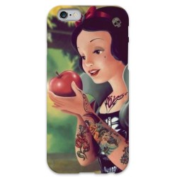 COVER BIANCANEVE TATTOO per iPhone 3g/3gs 4/4s 5/5s/c 6/6s Plus iPod Touch 4/5/6 iPod nano 7