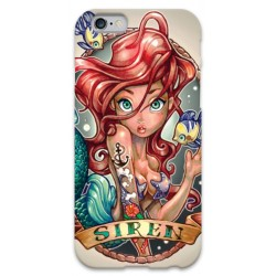 COVER ARIEL SIRENETTA TATTOO VINTAGE per iPhone 3g/3gs 4/4s 5/5s/c 6/6s Plus iPod Touch 4/5/6 iPod nano 7