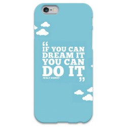 """COVER FRASE DISNEY """"if you can dream it you can do it"""" per iPhone 3g/3gs 4/4s 5/5s/c 6/6s Plus iPod Touch 4/5/6 iPod nano 7"""