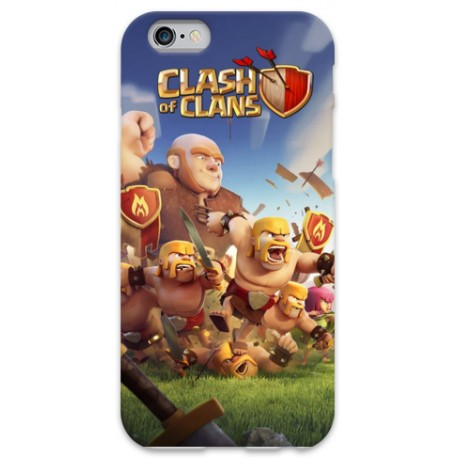 COVER CLASH OF CLAN per iPhone 3g/3gs 4/4s 5/5s/c 6/6s Plus iPod Touch 4/5/6 iPod nano 7