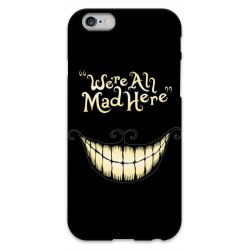 "COVER STREGATTO ""we're all mad here"" per iPhone 3g/3gs 4/4s 5/5s/c 6/6s Plus iPod Touch 4/5/6 iPod nano 7"