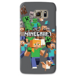 COVER MINECRAFT per SAMSUNG GALAXY SERIE S, S MINI, A, J, NOTE, ACE, GRAND NEO, PRIME, CORE