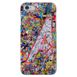 COVER AVENGERS FUMETTI COMIC per iPhone 3g/3gs 4/4s 5/5s/c 6/6s/7 Plus iPod Touch 4/5/6 iPod nano 7