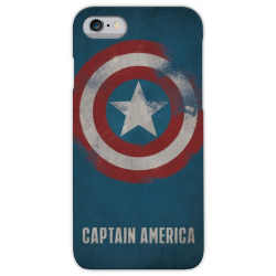 COVER CAPTAIN AMERICA per iPhone 3g/3gs 4/4s 5/5s/c 6/6s/7 Plus iPod Touch 4/5/6 iPod nano 7