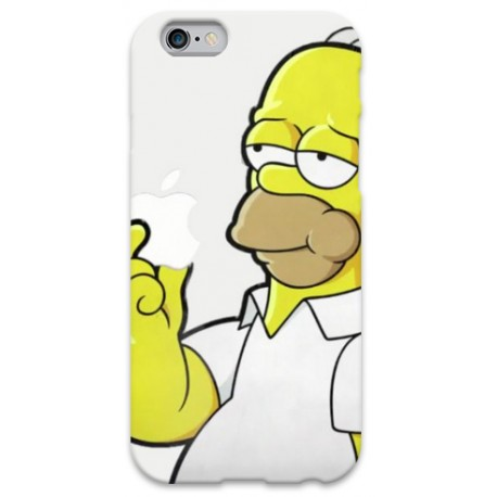 COVER HOMER SIMPSON APPLE per iPhone 3g/3gs 4/4s 5/5s/c 6/6s Plus iPod Touch 4/5/6 iPod nano 7
