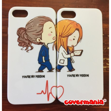 COVER DI COPPIA GREY'S ANATOMY per APPLE SAMSUNG HUAWEI LG SONY ASUS