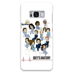 COVER GREY'S ANATOMY TEAM per SAMSUNG GALAXY SERIE S, S MINI, A, J, NOTE, ACE, GRAND NEO, PRIME, CORE, MEGA