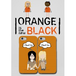 COVER DI COPPIA orange is the new black per APPLE SAMSUNG HUAWEI LG SONY ASUS