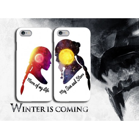 COVER DI COPPIA GAME OF THRONES per APPLE SAMSUNG HUAWEI LG SONY ASUS WIKO