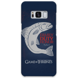 COVER GAME OF THRONES TULLY per SAMSUNG GALAXY SERIE S, S MINI, A, J, NOTE, ACE, GRAND NEO, PRIME, CORE, MEGA