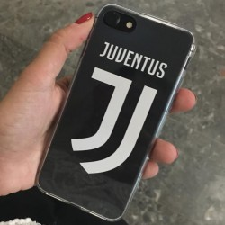 COVER TRASPARENTE JUVE JUVENTUS NUOVO LOGO per iPhone 3gs 4s 5/5s/c 6s 7 8 Plus X iPod Touch 4/5/6 iPod nano 7