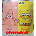 COVER DI COPPIA Spongebob e Patrick per APPLE SAMSUNG HUAWEI LG SONY
