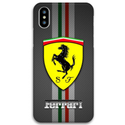 COVER FERRARI CARBON per iPhone 3gs 4s 5/5s/c 6s 7 8 Plus X iPod Touch 4/5/6 iPod nano 7