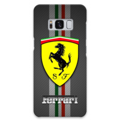 COVER FERRARI CARBON per SAMSUNG GALAXY SERIE S, S MINI, A, J, NOTE, ACE, GRAND NEO, PRIME, CORE, MEGA