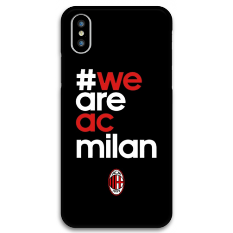 COVER WE ARE AC MILAN per iPhone 3gs 4s 5/5s/c 6s 7 8 Plus X iPod Touch 4/5/6 iPod nano 7