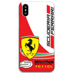 COVER VETTEL SCUDERIA FERRARI F1 per iPhone 3gs 4s 5/5s/c 6s 7 8 Plus X iPod Touch 4/5/6 iPod nano 7