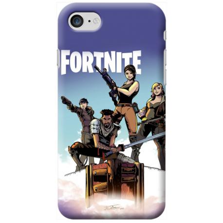 new styles 97f74 78ab1 COVER FORTNITE per iPhone 3gs 4s 5/5s/c 6s 7 8 Plus X iPod Touch 4/5/6 iPod  nano 7