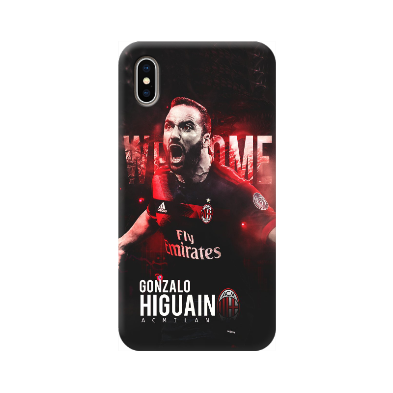 COVER GONZALO HIGUAIN MILAN per iPhone 3gs 4s 5/5s/c 6s 7 8 Plus X iPod Touch 4/5/6 iPod nano 7
