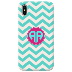 COVER INIZIALI MONOGRAM RIGHE CELESTE per APPLE IPHONE SAMSUNG GALAXY HUAWEI ASUS LG ALCATEL SONY WIKO VODAFONE MICROSOFT NOKIA