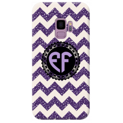 COVER INIZIALI MONOGRAM RIGHE VIOLA per APPLE IPHONE SAMSUNG GALAXY HUAWEI ASUS LG ALCATEL SONY WIKO VODAFONE MICROSOFT NOKIA