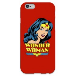 COVER WONDER WOMAN ROSSO per iPhone 3g/3gs 4/4s 5/5s/c 6/6s Plus iPod Touch 4/5/6 iPod nano 7