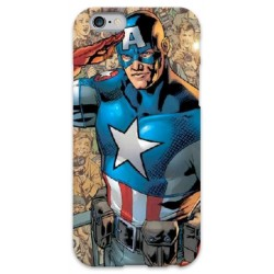 COVER CAPITAN AMERICA VINTAGE per iPhone 3g/3gs 4/4s 5/5s/c 6/6s Plus iPod Touch 4/5/6 iPod nano 7
