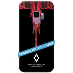 COVER TIPO MARCELO BURLON ROSSO per APPLE IPHONE SAMSUNG GALAXY HUAWEI ASUS LG ALCATEL SONY WIKO VODAFONE MICROSOFT NOKIA