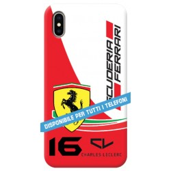 COVER FERRARI CHARLES LECLERC 16 per APPLE IPHONE SAMSUNG GALAXY HUAWEI ASUS LG ALCATEL SONY WIKO VODAFONE MICROSOFT NOKIA