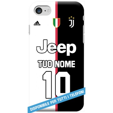 orologio 1a6c4 557ee COVER JUVE MAGLIA NOME E NUMERO 2019-20 per APPLE IPHONE SAMSUNG GALAXY  HUAWEI ASUS LG ALCATEL SONY WIKO VODAFONE - covermania