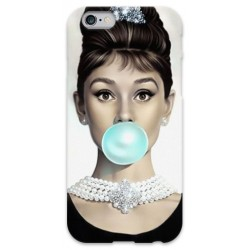 COVER AUDREY HEPBURN BUBBLEGUM per iPhone 3g/3gs 4/4s 5/5s/c 6/6s Plus iPod Touch 4/5/6 iPod nano 7