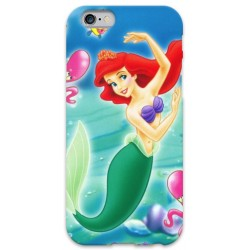 COVER ARIEL SIRENETTA per iPhone 3g/3gs 4/4s 5/5s/c 6/6s Plus iPod Touch 4/5/6 iPod nano 7