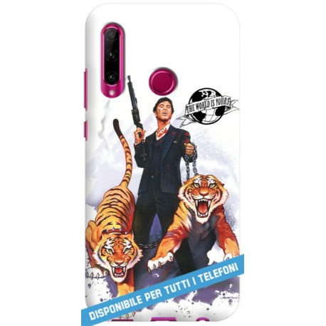 COVER SCARFACE TIGRI THE WORLD IS YOURS per APPLE IPHONE SAMSUNG GALAXY HUAWEI ASUS LG ALCATEL SONY WIKO VODAFONE XIAOMI