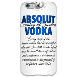 COVER ABSOLUT VODKA BIANCO per iPhone 3g/3gs 4/4s 5/5s/c 6/6s Plus iPod Touch 4/5/6 iPod nano 7