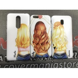 COVER DI COPPIA TRIO BEST FRIENDS per APPLE SAMSUNG HUAWEI LG SONY ASUS WIKO XIAOMI