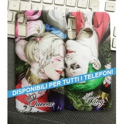 COVER DI COPPIA JOKER AND HARLEY per APPLE SAMSUNG HUAWEI LG SONY ASUS WIKO XIAOMI