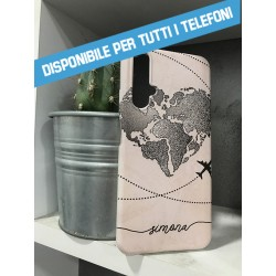 COVER MONDO VIAGGI TUO NOME per APPLE IPHONE SAMSUNG GALAXY HUAWEI ASUS LG ALCATEL SONY WIKO XIAOMI