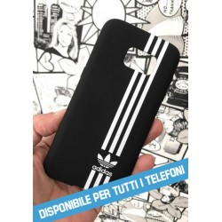 COVER TIPO ADIDAS NERO per iPhone 3g/3gs 4/4s 5/5s/c 6/6s/7 Plus iPod Touch 4/5/6 iPod nano 7