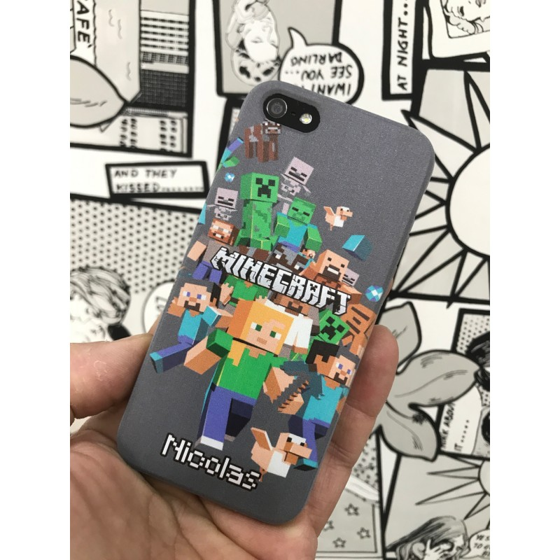 COVER MINECRAFT PER ASUS HTC HUAWEI LG SONY NOKIA BLACKBERRY - covermania