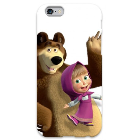 COVER MASHA E L'ORSO per iPhone 3g/3gs 4/4s 5/5s/c 6/6s Plus iPod Touch 4/5/6 iPod nano 7