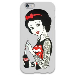 COVER BIANCANEVE TATTOO COCACOLA per iPhone 3g/3gs 4/4s 5/5s/c 6/6s Plus iPod Touch 4/5/6 iPod nano 7