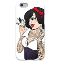 COVER BIANCANEVE TATTOO UCCELLINO per iPhone 3g/3gs 4/4s 5/5s/c 6/6s Plus iPod Touch 4/5/6 iPod nano 7