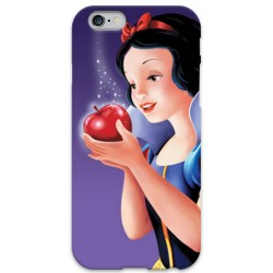 COVER BIANCANEVE MELA per iPhone 3g/3gs 4/4s 5/5s/c 6/6s Plus iPod Touch 4/5/6 iPod nano 7