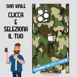 SKIN VINILE ADESIVO MIMETICA CAMOUFLAGE DESERTO WRAPPING PER TUTTI I TELEFONI